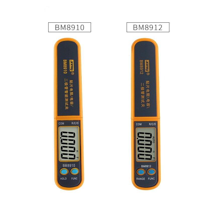 Medidor de Resistência Szbj Capacitivo Elemento Remendo Teste Tester Diode Intelligent 30mo Capacitância 30mf Bm8910 – Bm8912