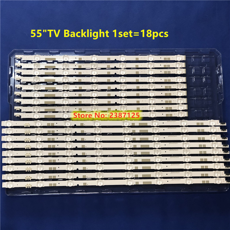 18 Pieces  LED  Strip V5DR_550SCB_R0 V5DR_550SCA_R0 For Sam Sung 55
