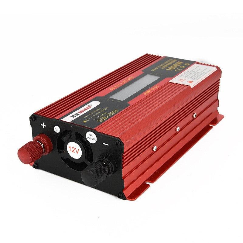 12 V/24 V à AC 220V1000W voiture onduleur transformateur de tension onde sinusoïdale Pure convertisseur de puissance Rechargeable avec affichage LED
