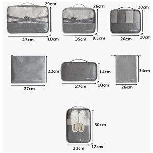 Image 2 - 男性旅行バッグセット防水パッキングキューブポータブル衣類オーガナイザー女性旅行バッグ手荷物アクセサリー製品