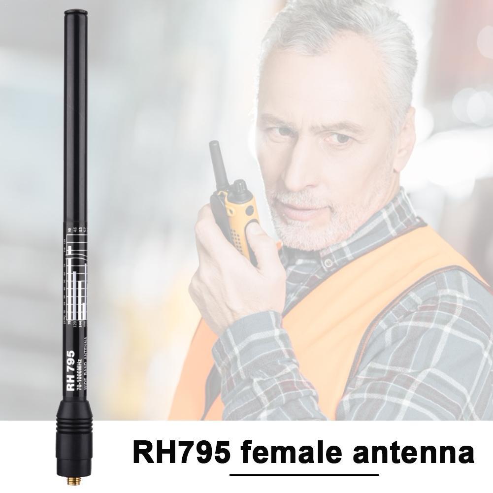 RH795 Telescopic Female Antenna SMA Female 10W Wide-band RX 70-1000MHz TX 144/430 MHz Police DIGITAL SCANNER Handheld Antenna