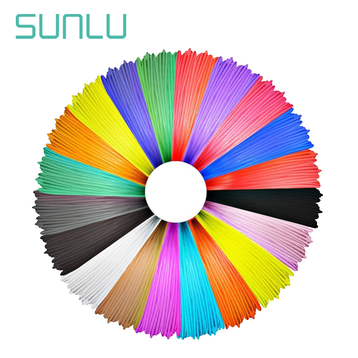 SUNLU 1,75 мм 3D ручка лампы накаливания PLA ABS нити 5 м/10 м 1 рулон случайный Цвет детей каракули инструменты допуск +/-0,02 мм