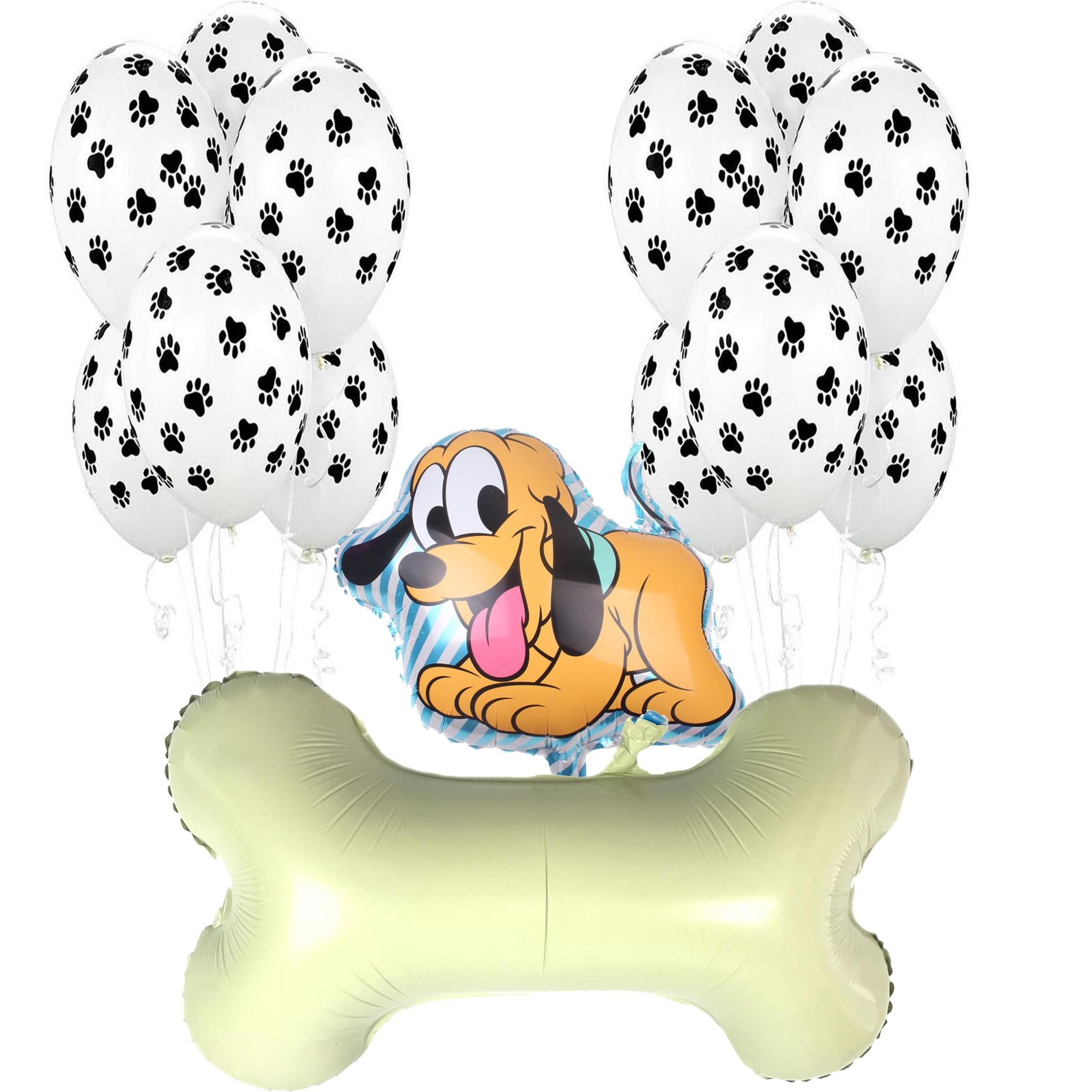 Funny Bone Shape Latex Foil Balloon Pet Big Dog Bone Balloons for Birthday Party Decoration Jungle Kindergarten Kids Toys Ballon