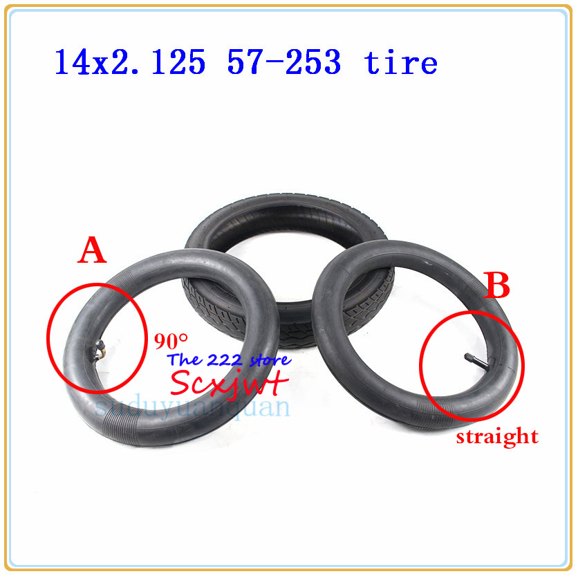 14 X 2.125 57-253 tyre inner tube fits Many Gas Electric Scooters and e-Bike 14 inch wheel Tires 14*2.125 tire 14x2.125 tube