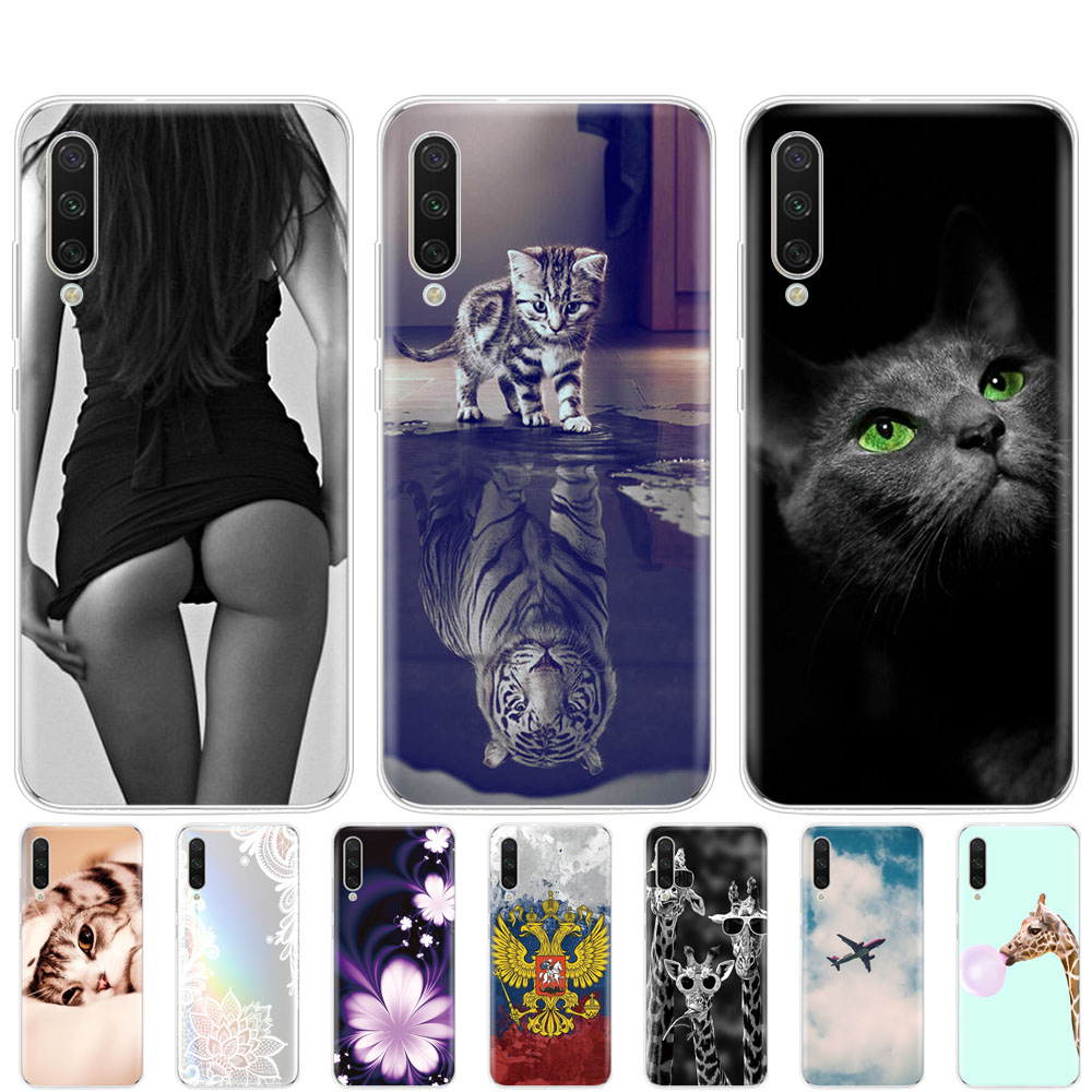 soft case For <font><b>Xiaomi</b></font> <font><b>MI</b></font> <font><b>A3</b></font> Case cover tpu silicon phone cover For Xiomi <font><b>MI</b></font> <font><b>A3</b></font> bumper Coque full 360 Protective <font><b>Fundas</b></font> cute cat image