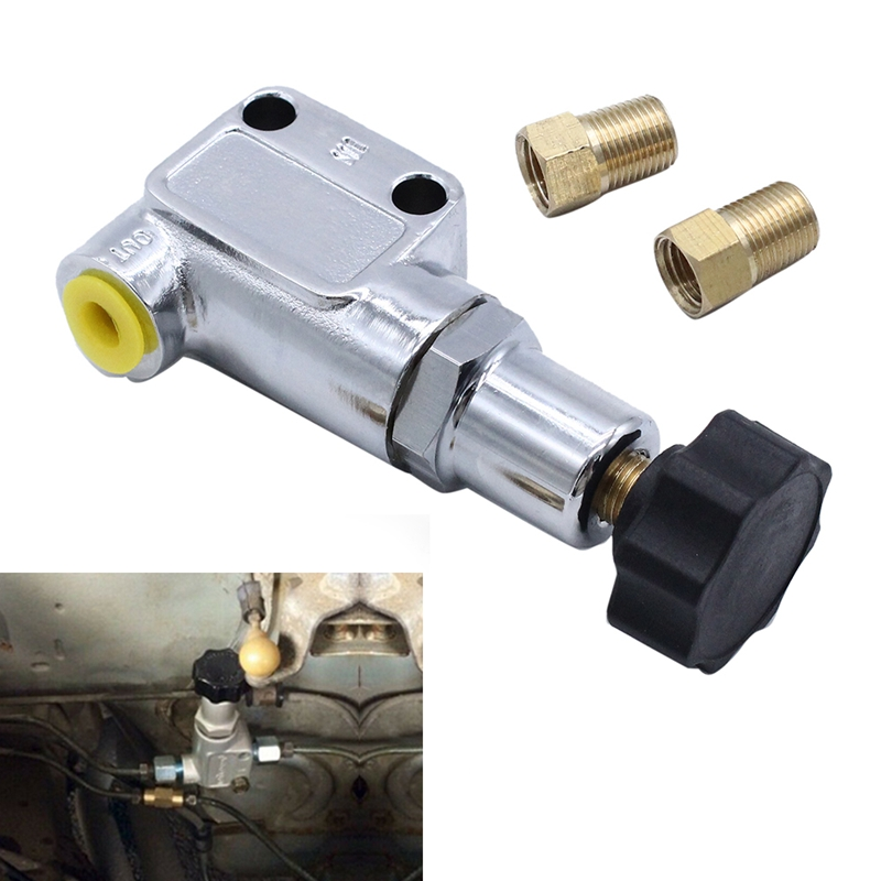 Brake Bias Proportioning Valve Pressure Regulator for Brake Adjustment 1/8-27 NPT Pressure Regulator Screw Knob Type