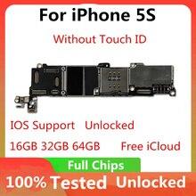 Carte mère bas prix pour iPhone 5S 100% carte mère déverrouillée dorigine IOS installé carte mère sans ID tactile 16GB 32GB 64GB