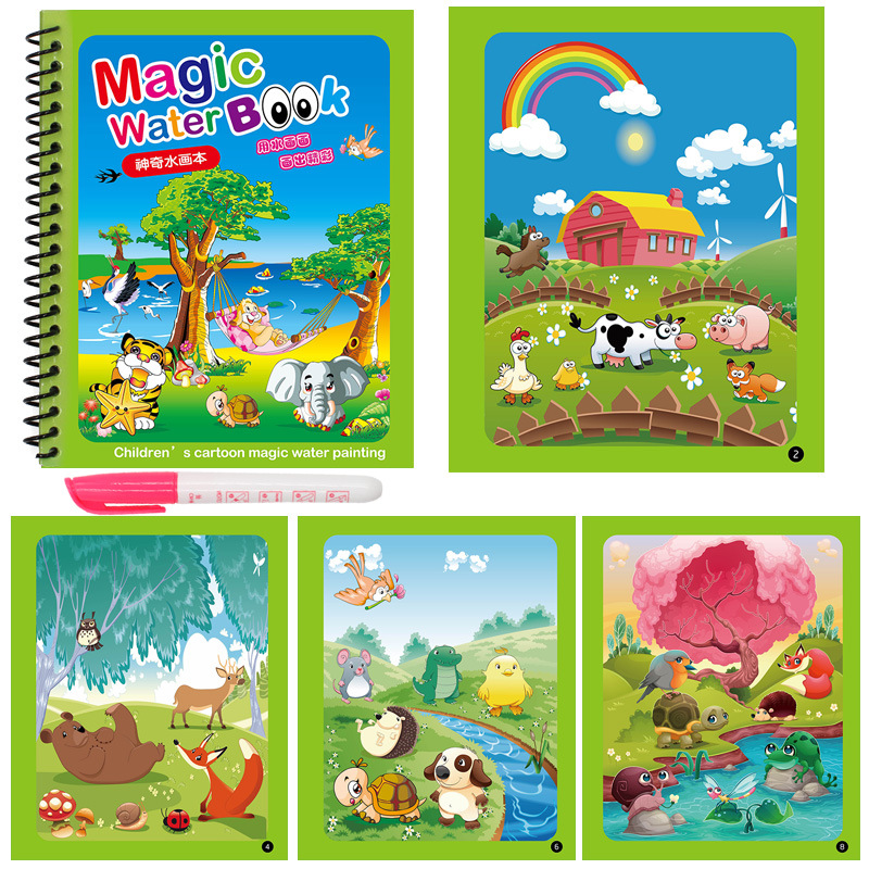 Early Education Montessori Painting Drawing Board For Kids Toys Coloring Book Doodle & Magic Pen Magic Water Drawing Book