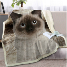 цены Dog And Cat Throw Blanket 3D Printed Plush For Sofa Bed Velvet Plush Sherpa Fleece Blanket Bedspread Microfiber Couch Cover