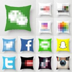 Fronha app marca logotipo capa de almofada decoração lance travesseiros sala de casamento tok tik rosto livro você tubo capa de travesseiro