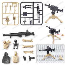 Military Nsv Heavy Machine Gun Building Blocks German Army Mini Weapons Figures Special Forces Ww2 Moc Child Christmas Gift Toys стоимость