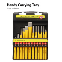 BRAKEMAN 12PC Punch Set Center Pin Cold Chisels Solid Punches  For Alloy Steel Metal Wood Drilling Tool