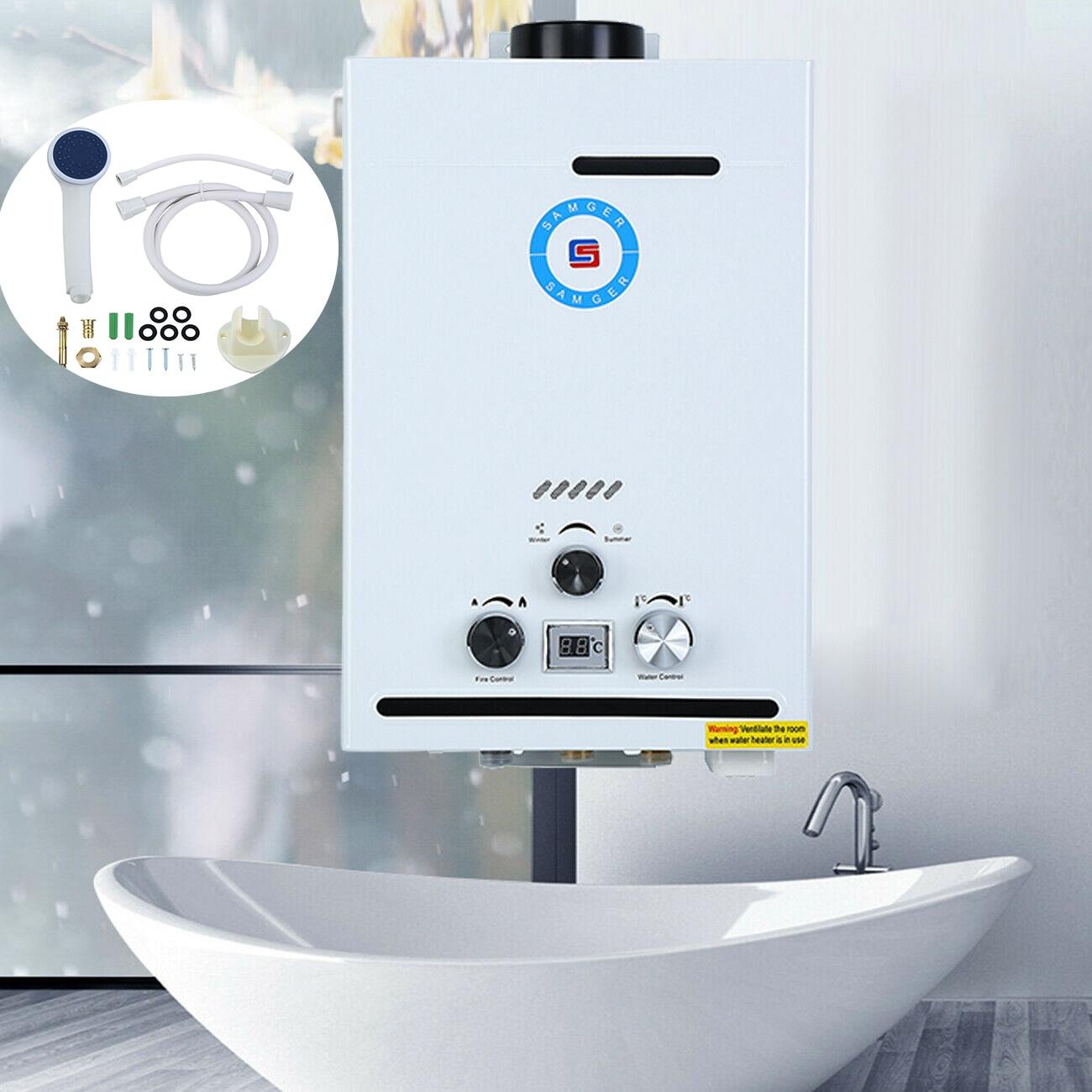 Honhill 8 L scaldabagno a Gas naturale 16KW caldaia a Gas istantanea con soffione doccia scaldabagno