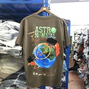 Top Quality Travis Scott Astroworld Tees Men Women Cactus Jack T Shirt Hip-hop O-Neck T-Shirt Men(China)