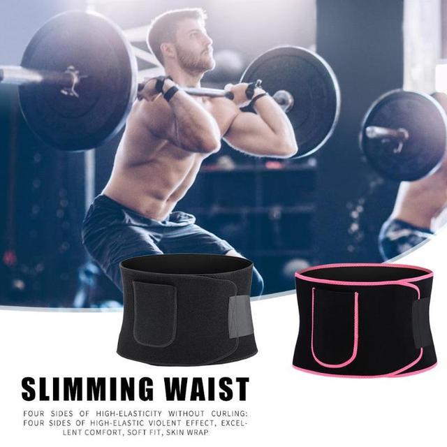 Adjustable Pocket Fitness Waist Belt Neoprene Weight Loss Slimming Sweat Waistband Exercise Belly Body Beauty Waist Support 4