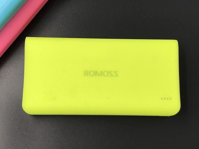 Портативный нетоксичный силиконовый мягкий защитный чехол для ROMOSS 20000mAh ROMOSS 10400mAh power DurableBank - Цвет: green yellow