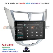 Ossuret Android 9.0-autoradio GPS Navigation | Pour Hyundai Solaris Accent Verna multimédia DVR SWC FM CAM-IN USB DAB DTV, OBD PC(China)