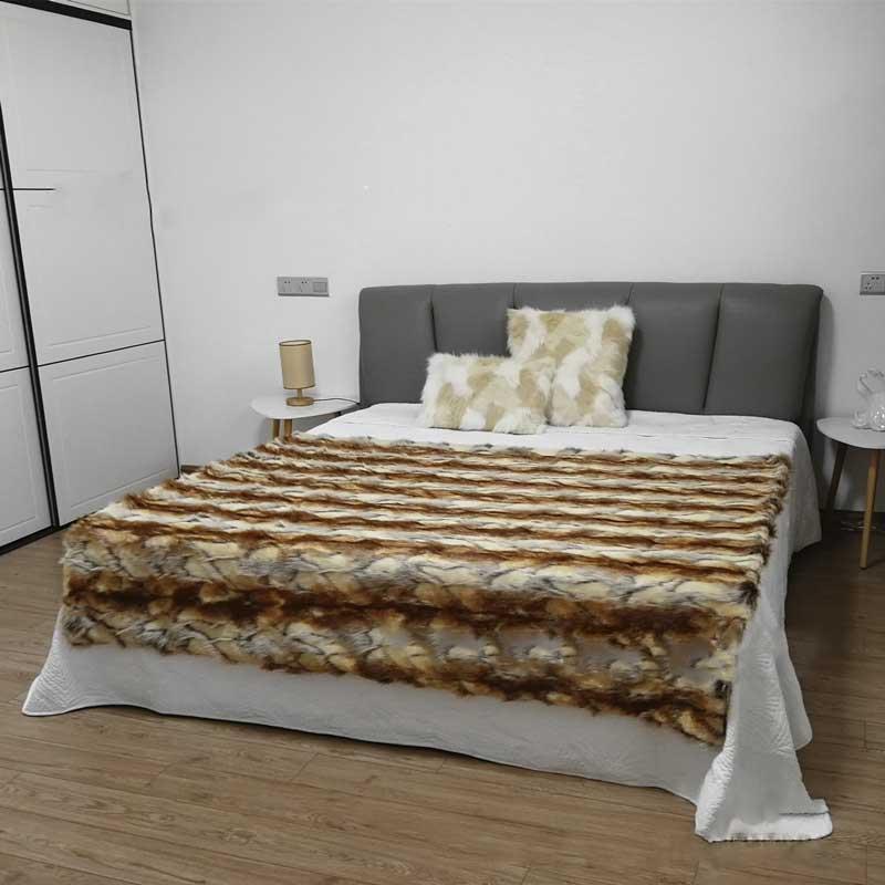 Nouvelle fausse fourrure couverture animal fourrure daim couverture Rex lapin renard tapis chambre lit couverture