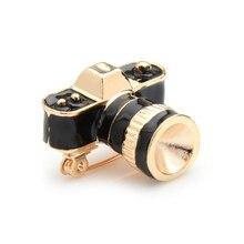 купить Wuli&baby Black White SLR Camera Brooches Women Personal Style Enamel Brooch Pins Gifts дешево