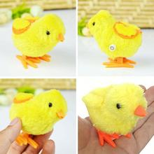 1Pcs Cute Plush Wind Up Chicken Kids Educational Toy Clockwork Jumping Walking Chicks Toys For Children Baby