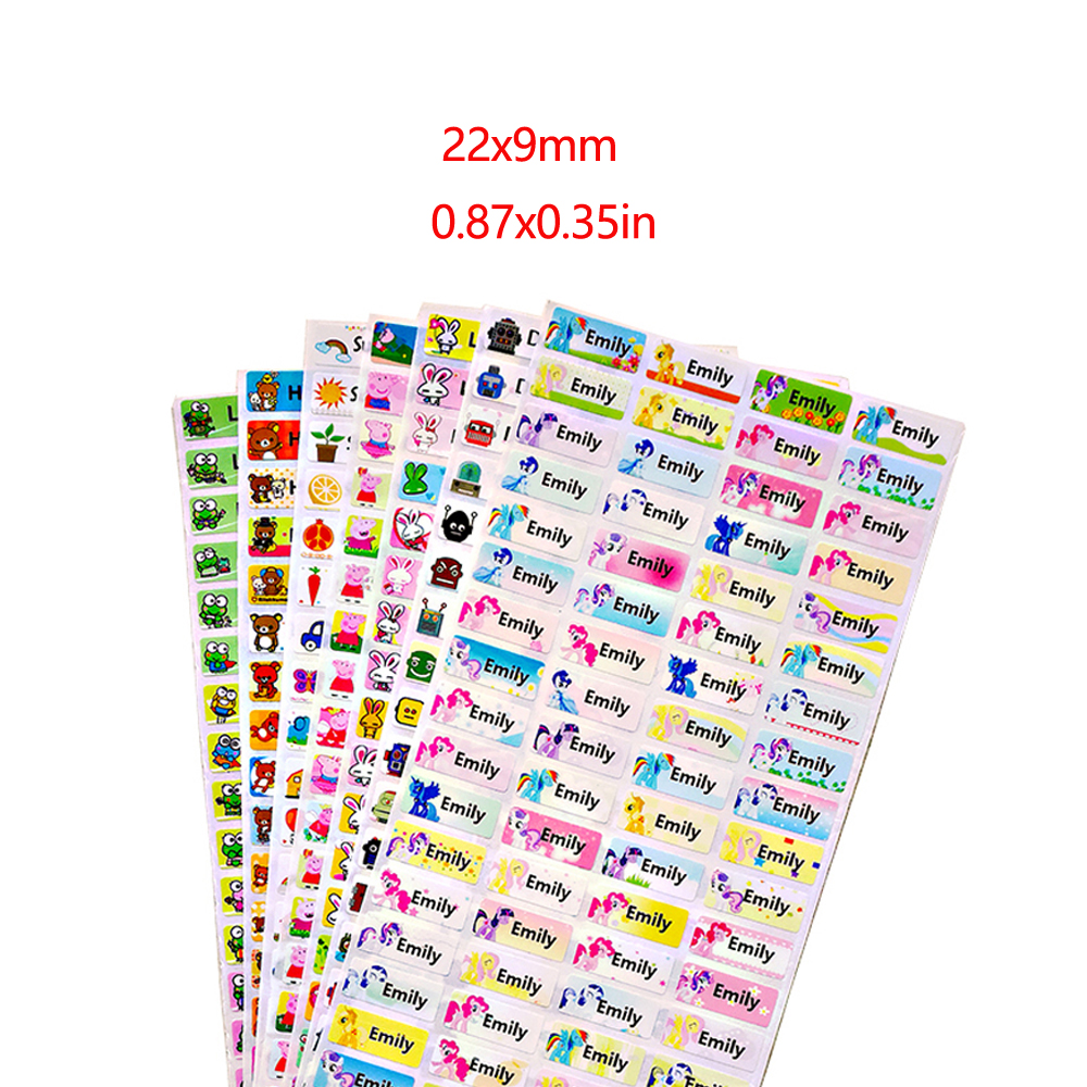 100Pcs Cute Custom Name Stickers Waterproof Personal Children Stickers For Daycare Scrapbook School Scrapbooking Stickers