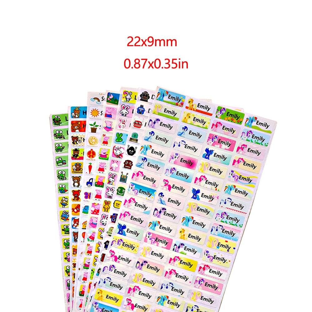 100Pcs Cute Custom Name Stickers Waterproof Personal Children Stickers For Daycare Scrapbook School Scrapbooking Stickers