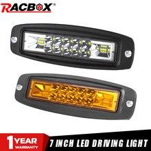 Led Work Light 7 Inch Flush Mount White Amber Led Auxiliary Pods Lights For Jeep Offroad ATV UTV RV 12V 24V Driving Fog Lights
