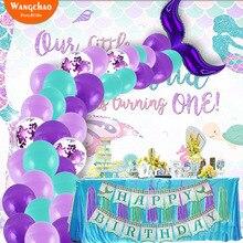 42Pcs/set Mermaid Balloon Arch Tail Little Party Decorations Supplies Wedding Birthday Decoration