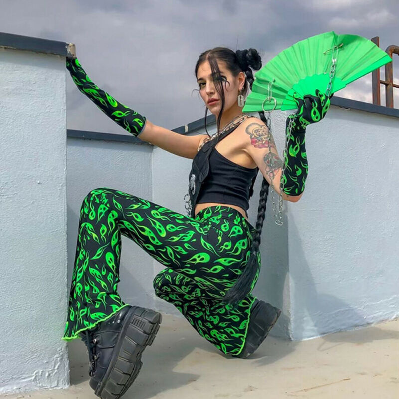 2020 Elegant Women Baggy Harem Pants Hippie Flare Wide Leg Gypsy Palazzo Casual Plus Size Floral Stretchy Bell Bottom Trousers