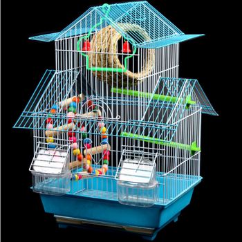 Bird cage tiger skin parrot cage thrush of big Villa bird cages for iron culture of parrots birdhouse large bird cage decoration