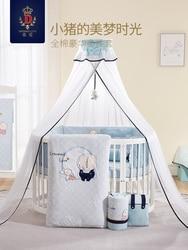 Wieg bed pakket katoenen baby beddengoed kind anti-collision
