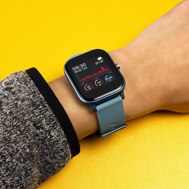 COLMI P8 1.4 pouces montre intelligente hommes pleine touche Fitness Tracker tension artérielle horloge intelligente femmes GTS Smartwatch pour Xiaomi 6