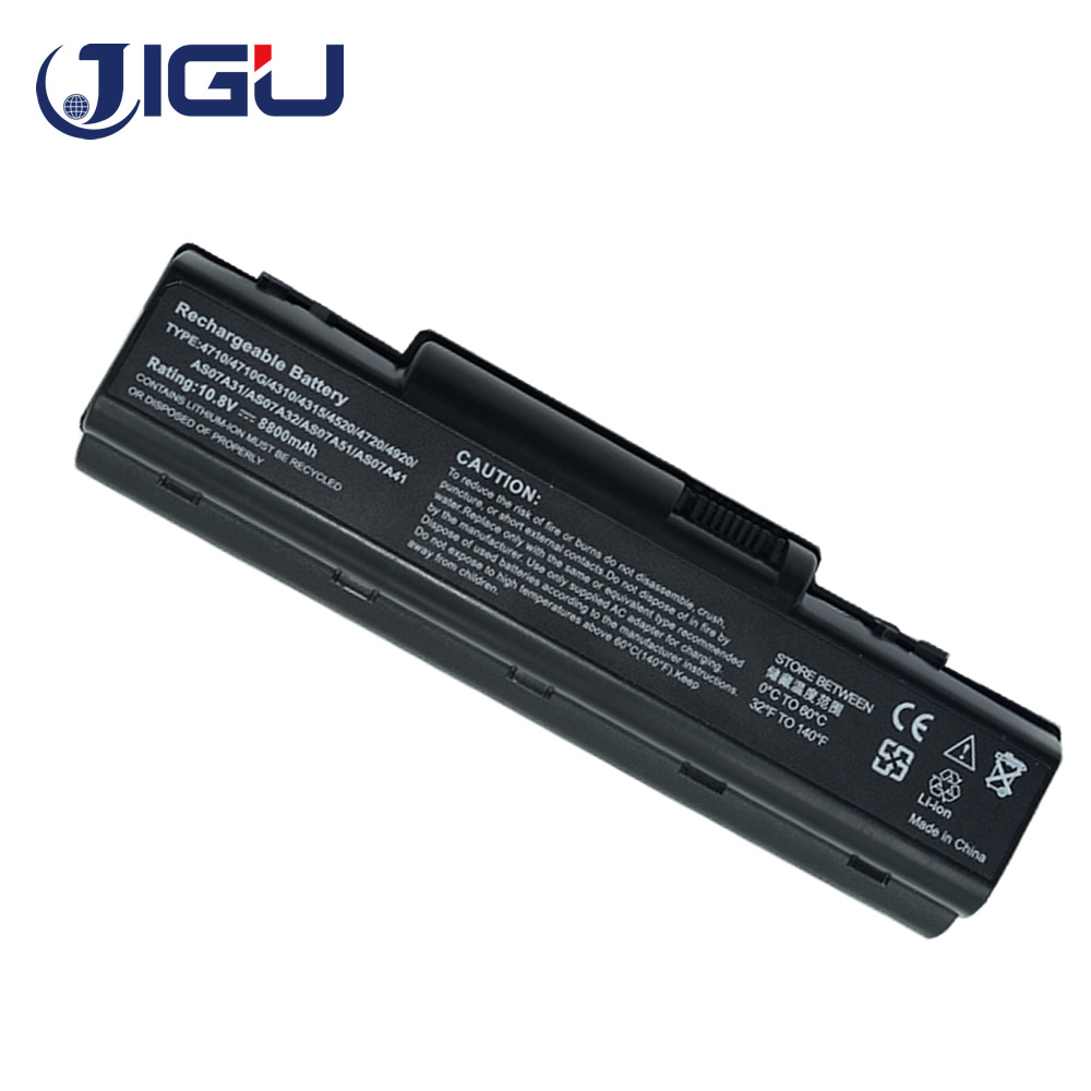 JIGU AS07A51 AS07A31 AS07A41 AS07A32 AS07A42 AS07A52 12 Cells 10400mAh AS07A72 Laptop Battery For Acer Aspire AS07A75 AS2007A image
