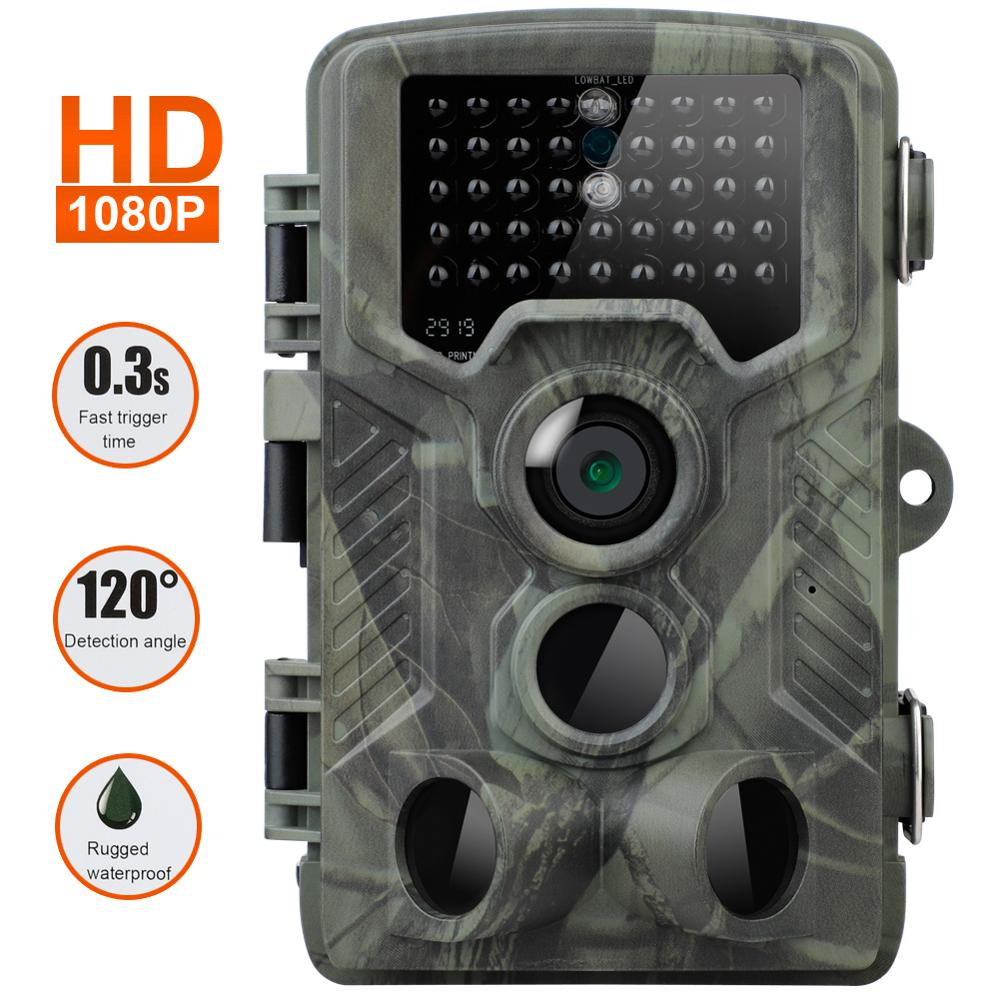 20MP Hunting Trail Camera HD 1080P Infared Wildlife Scouting Cam Night Vision Camera 0.3s Trigger Time Wildlife Photo Trap