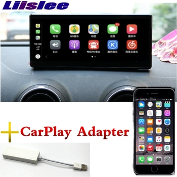 Lislee Car Multimedia Player NAVI For Audi A3 2012~2018 MMI CarPlay Adapter Radio WIFI MAP 3/4G SIM GPS Screen Navigation image