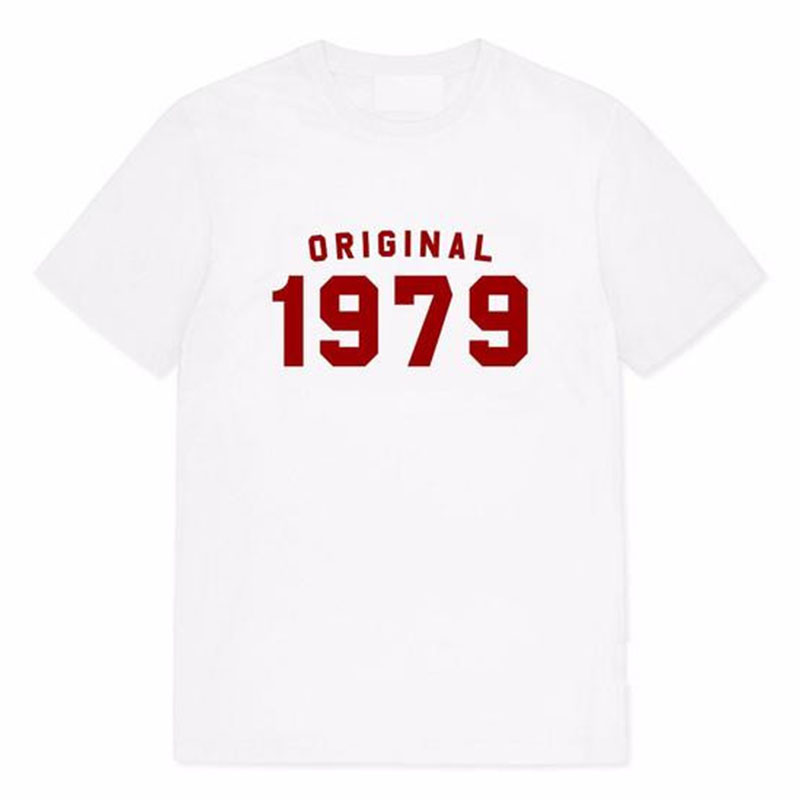 Original <font><b>1979</b></font> Women <font><b>Tshirt</b></font> 70s Fashion Birthday Short Sleeve Tops Cotton Plus Size Mom Life T-shirt Fashion Shirts Dropshipping image