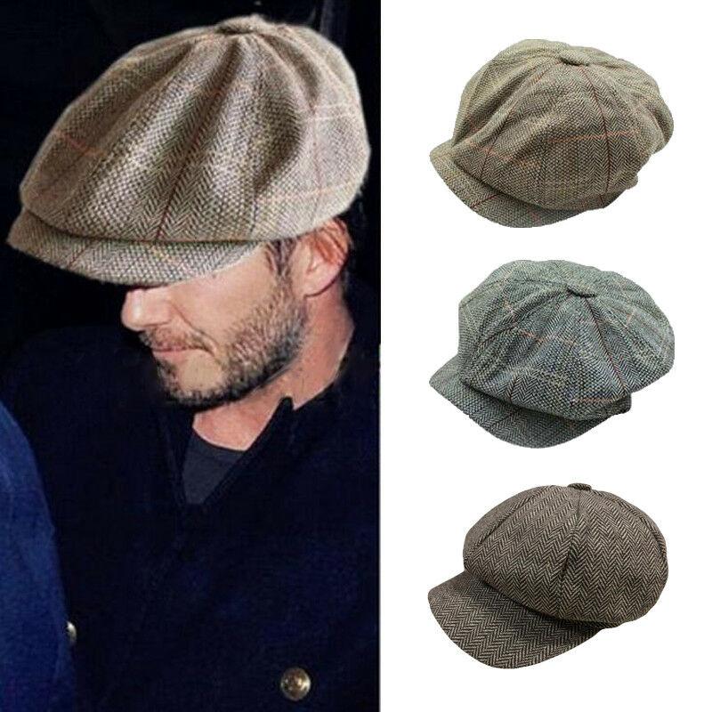 vintage-casquette-gavroche-hommes-chapeau-octogonal-decontracte-marine-plaid-printemps-nouveau-coreen-peintres-beret