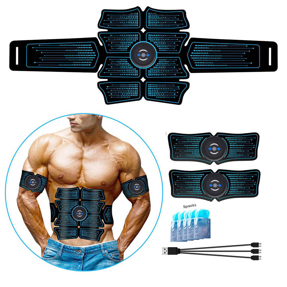 Abdomen Muscle Trainer Stimulator EMS Muscles Electrostimulator Toner Belt Ab Wireless Vibration Body Slimming Fitness Equipment image