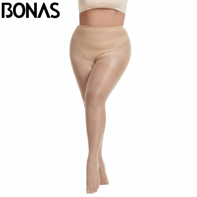 BONAS 20D Sexy Breathable Tights Women High waist Sun Protection Pantyhose T crotch Nylon Tights Stretchy Slim Stockings Female 1