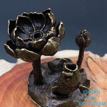 Ornamento de incienso de flujo de loto... hornillo de incienso de ornamento...