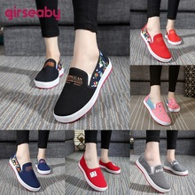 Canvas Shoes Flats Comfortable Spring Slip On Autumn Large-Size Casual Woman Girseaby