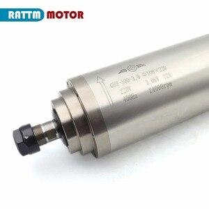 Image 4 - Двигатель шпинделя с водяным охлаждением, 3 кВт ER20 4 подшипника и инвертор 3 кВт VFD 4HP 220 В и 100 мм зажим для фрезерного станка с ЧПУ