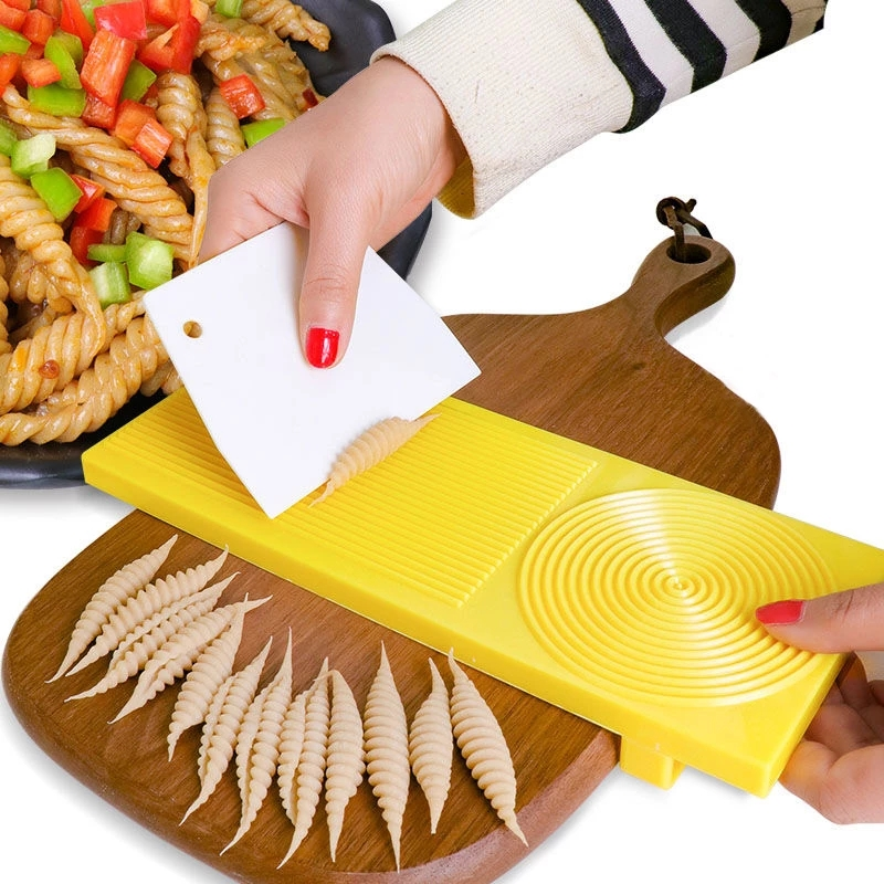 Board Spaghetti Macaroni Pasta Maker Rolling Pin Baby Food Supplement Molds Noodle Maker Manual Kitchen Tool Kitchen Gadgets