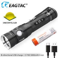 EAGTAC TX3V USB Rechargeable LED Flashlight XHP70.2 3550 Lum