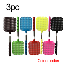 3 PCS Plastic Telescopic Extendable Fly Swatter Prevent Pest Anti Mosquito Pest Reject Insect Killer Tool Fly Swatter Beat expansion bar fly killer stainless steel retractable fly swatter plastic mosquito swatter multifunctional mosquito swatter