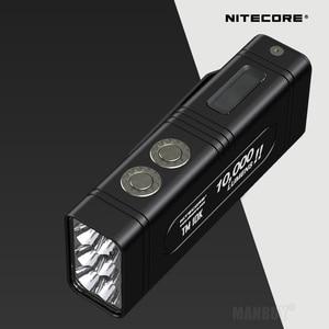 Image 2 - NITECORE كشاف السوبر مشرق الشعلة الأضواء TM10K 10000LM القابلة لإعادة الشحن 6LED مصباح يدوي تشمل 4800mAh بطارية ليثيوم أيون حزمة