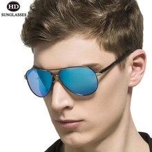 Hd clear polarize güneş gözlüğü kadın balıkçılık gözlük ayna gözlük erkekler sürüş Gafas De Sol Hipster Oculos Pilot UV Lentes LD013