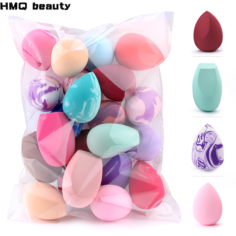 10 20 pcs mistura suave cor maquiagem esponja rosto beleza cosmeticos po sopro para fundacao creme