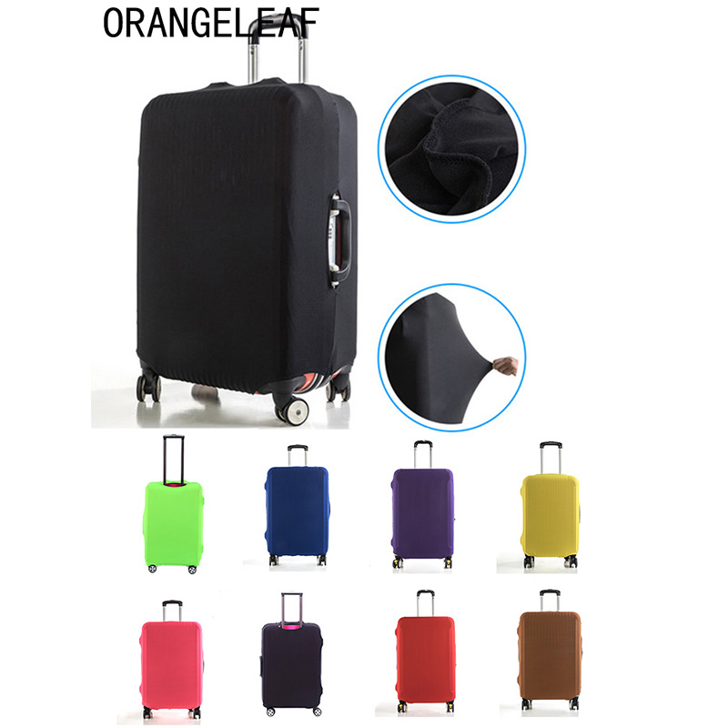 Luggage Protective Cover Elastic Fabric Solid Color Travel Suitcase Dust Cover For 18-28 inch Case dust cover Travel Accessories