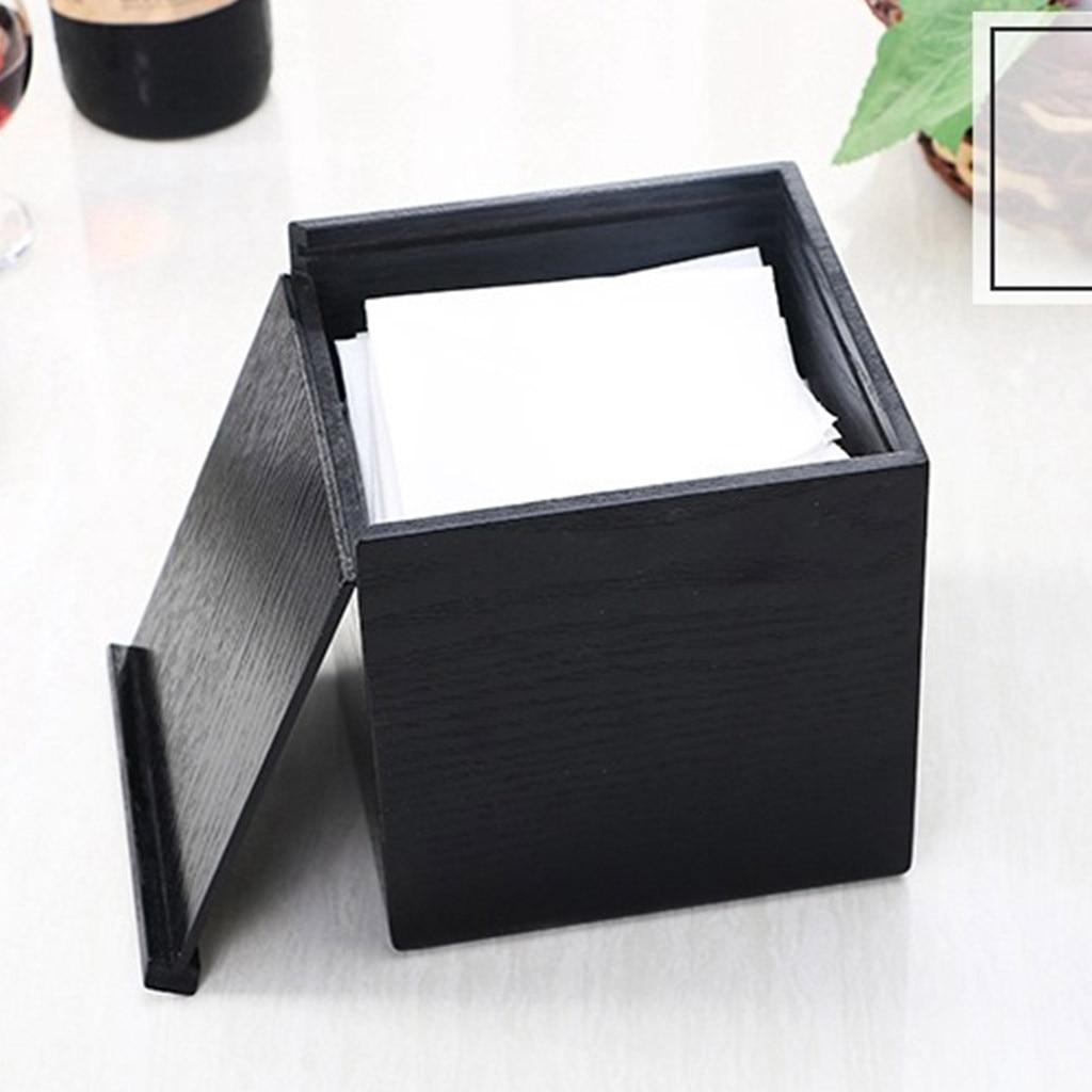 Деревянная коробка для салфеток, деревянная коробка для хранения салфеток прямоугольной формы, Рабочий стол для гостиной, бумажный лоток, коробка для хранения бумаги